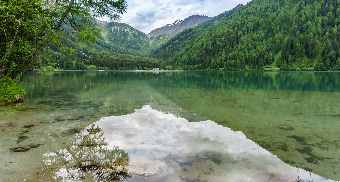 Natural mountain lakes in Val Pusteria, Lake Braies, Lake Anterselva